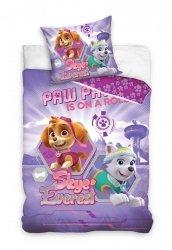 Pościel Psi Patrol Fioletowa dla dziewczynki 160x200 Carbotex 100% bawełna PAW 171038