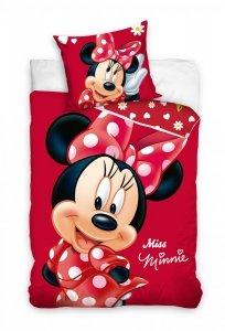 Pościel dla dziewczynki Myszka  Minnie  160x200 cm 100% bawełna. Myszka Minnie pościel. .
