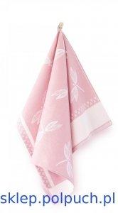 Ściereczka kuchenna Zwoltex Ważki Różowa - 50x70 cm - bawełna egipska. Ściereczka z ważkami