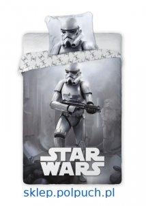 Pościel Star Wars -  Gwiezdne Wojny -Szturmowiec - 160x200. Dwustronny komplet pościeli Star Wars 160x200 Faro 100% bawełna wz 019