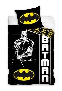 Pościel Batman 160x200 Czarna - Carbotex 100% bawełna wz. BAT 191