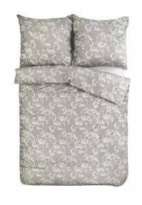 Ekskluzywna pościel satynowa Andropol 200x220 cm 100% bawełna wz. 17489/15 . Szara pościel 200x220