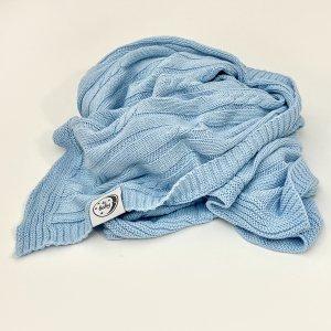 Bawełniany kocyk dla niemowląt BeBaby Niebieski 75x100 cm