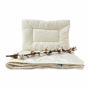 Kołderka ekologiczna dla dzieci 90x120 + poduszka 40x60 BIO ecotton Poldaun