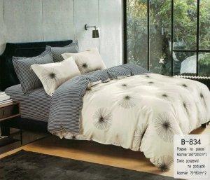 Pościel Mengtianzi 160x200 Szara - Beżowa 100% bawełna wz B-834