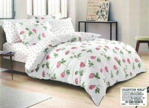 Pościel Collection World 200x220 Biała w Róże  100% bawełna wz 842