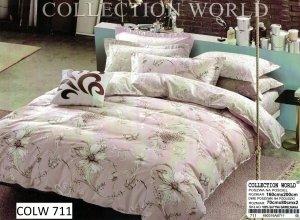 Pościel Collection World 160x200 Wrzosowa w Kwiaty 100% bawełna wz 711