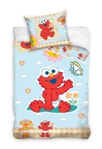 Pościel dla dzieci Disney 100x135 Ulica Sezamkowa Elmo 100% bawełna Carbotex SS 005