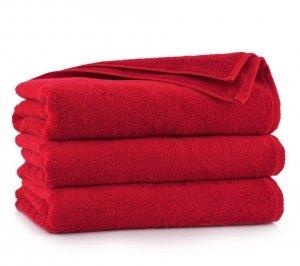 Ręcznik kąpielowy Zwoltex 50x100 KIWI 2 - Czerwony - Bawełna Egipska.