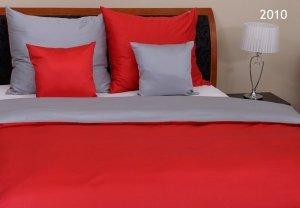 Pościel z makosatyny Szara - Czerwona Oritex 200x220 Prestige 100% bawełna wz. 2010
