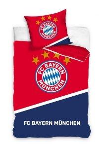 Oficjalna pościel Bayern Monachium Granatowa - Czerwona 160x200 100% bawełna Carbotex. Pościel Piłka Nożna Bayern Monachium