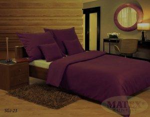 Pościel satynowa Matex Exclusive 160x200 Gładka - Fioletowa 100% bawełna wz SGJ-23