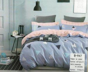 Pościel Mengtianzi 140x200 Fioletowa - Różowa 100% bawełna wz B-947