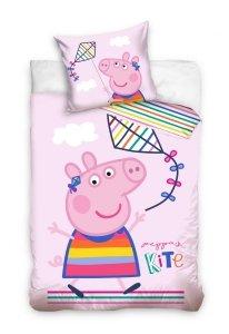 Pościel dla dzieci Disney 100x135 Świnka Peppa George 100% bawełna Carbotex PP 202009