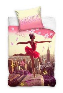 Pościel młodzieżowa 3D dla dziewczynki - Ballerina 140x200 Carbotex Kolorowa 100% bawełna  Ballerina 163001
