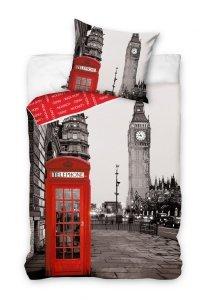 Pościel młodzieżowa 3D 160x200 Londyn - Big Ben - Carbotex 100% bawełna London