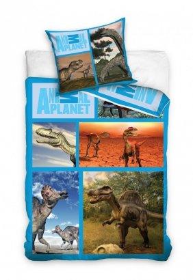 Pościel Dinozaury 160x200 100% bawełna Carbotex AP 1008