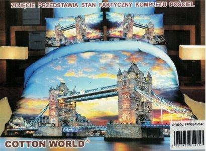 Pościel 3D London Bridge Cotton World 160x200 100% mikrowłókno. Pościel z Miastem - Londyn