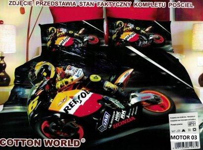 Pościel 3D Motor Ścigacz Honda Cotton World 100% mikrowłókno wz. Motor 03