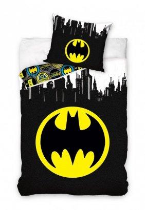 Pościel Batman 140x200 Czarna - Carbotex 100% bawełna wz. BAT 181