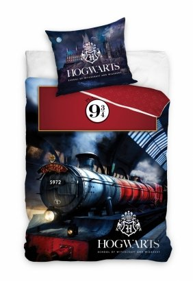 Pościel młodzieżowa Harry Potter - Hogwart Express 160x200 Carbotex 100% bawełna HP 195018