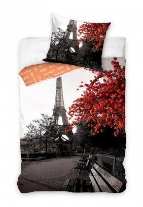 Pościel młodzieżowa 3D 140x200 Paryż - Wieża Eiffla - Carbotex 100% bawełna Paris