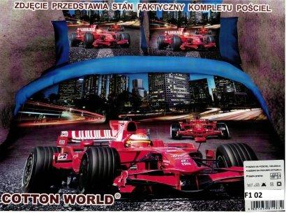 Pościel 3D Formuła F1 160x200 Cotton World 100% mikrowłókno wz. F1 02