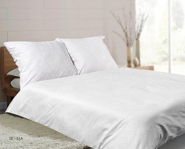 Biała satynowa pościel Matex Exclusive 200x220 100% bawełna