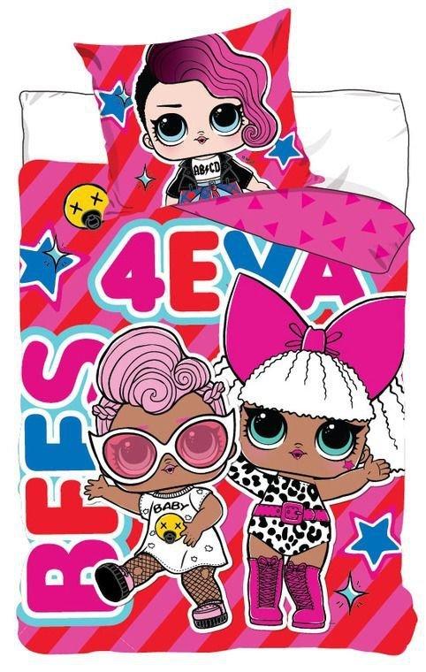 Pościel dla dziewczynki LoL 140x200 Carbotex 100% bawełna