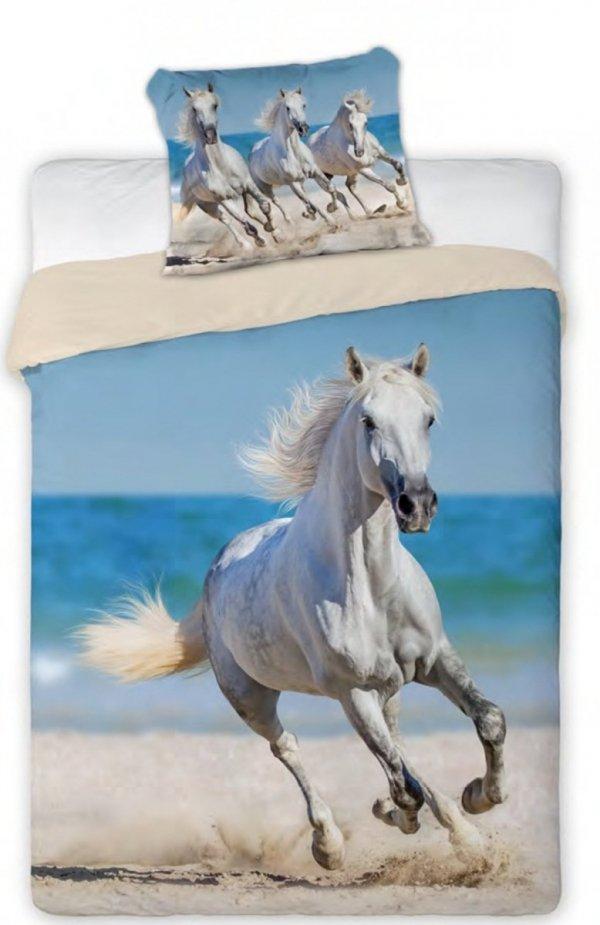 Pościel z białym Koniem 160x200 Faro 100% bawełna