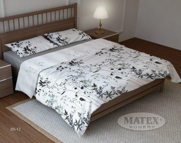 Pościel bawełniana 160x200 Biała w Kwiaty Matex DS-12