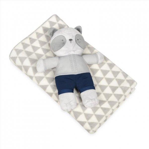 Kocyk dla niemowląt z maskotką Pandy 75x100 c m