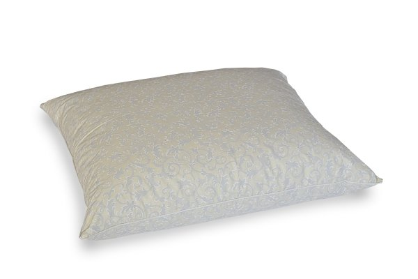 Poduszka z piór gęsich dartych ręcznie 70x80 cm Ecru Żakard