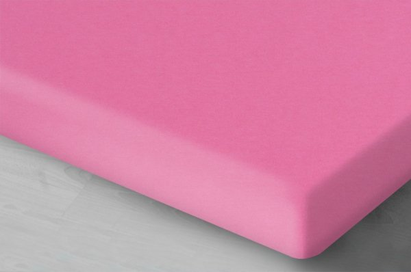 Ciemno Różowe prześcieradło Jersey 160x200