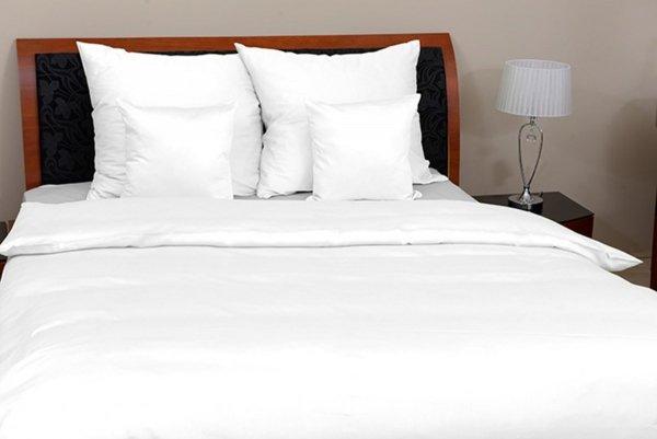 Biała Gładka pościel 160x200 Oritex makosatyna 100% bawełna.