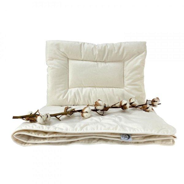 Kołderka ekologiczna dla dzieci z bawełny 90x120 Ecotton Poldaun