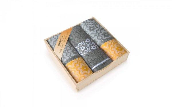Komplet antybakteryjnych ścierek kuchennych Zwoltex Marsala Żółty