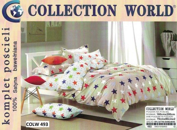 Pościel dla dzieci Collection World 160x200 biła w gwiazdki