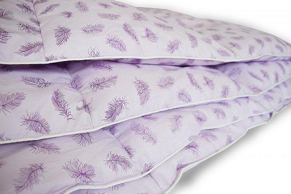 Poduszki z półpuchu 50x60 cm Fioletowe w fioletowe piórka