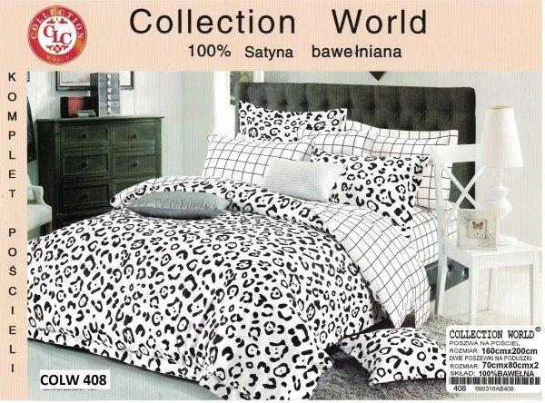 Biało - Czarna pościel Collection World 160x200