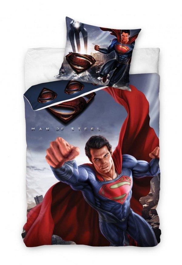 Pościel dla dzieci 160x200 Carbotex. Pościel dla młodzieży Super Man 160x200