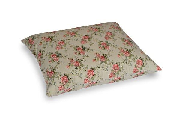 Poduszka z półpuchu 50x60 cm Ecru w różyczki Polpuch