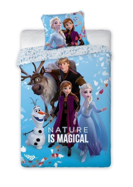 Pościel Frozen 160x200 - Niebieska Anna i Stella