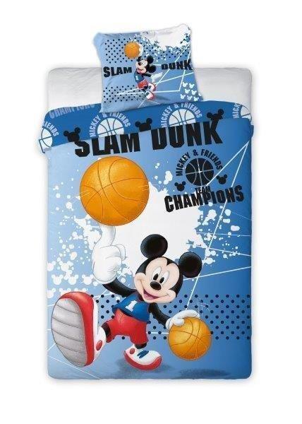 Pościel Myszka Mickey Koszykówka 160x200 Faro 100% bawełna