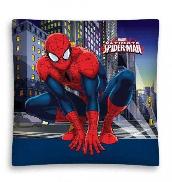 Poszewka dla chłopca Spiderman 40x40cm Detexpol SM 03