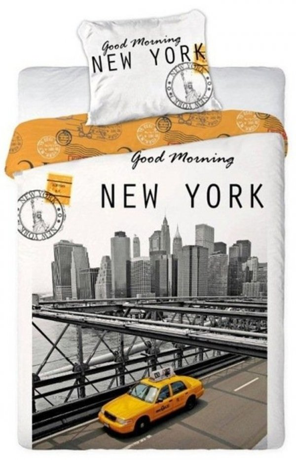 Pościel młodzieżowa 3D 160x200 Żółta Taksówka New York Faro