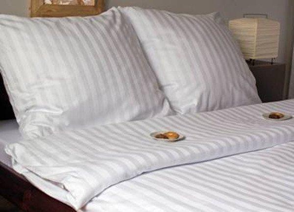 Biała pościel adamaszkowa 160x200 Andropol 100% bawełna