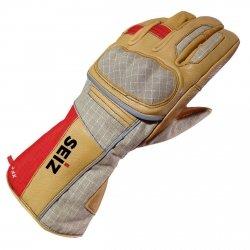 Rękawice pożarnicze SEIZ XF-C - długi mankiet (PBI, skóra łosia, NOMEX, Gore 3)