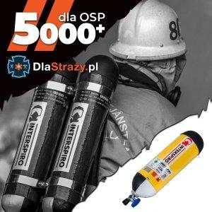 Zestaw 14. Aparat oddechowy Interspiro QSII z cylindrem stalowym 6l oraz maską Inspire-H - 1 szt