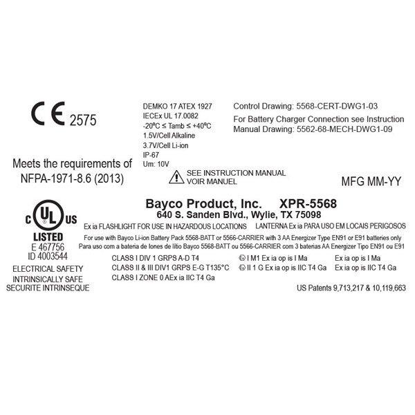 Kątowa latarka akumulatorowa NIGHTSTICK INTRANT XPR-5568 RX ATEX Strefa 0